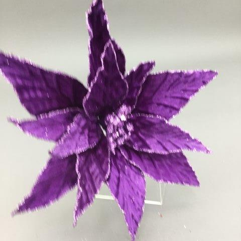Violet Poinsettia Pick - My Christmas