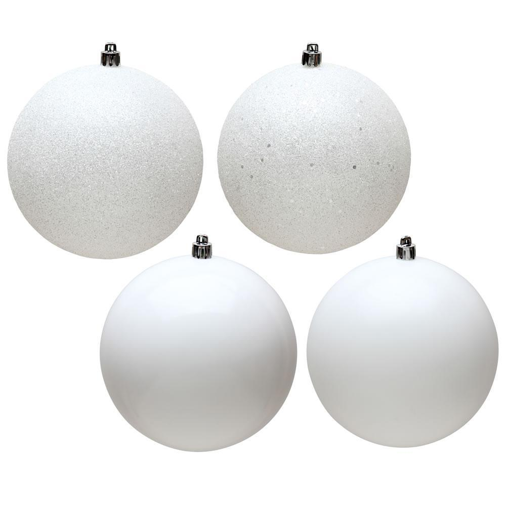 White, 4 Finish Pack Of 4 Ball - My Christmas