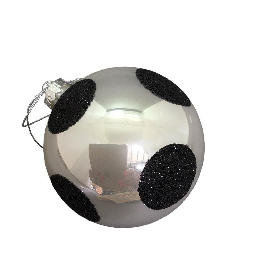 White Ball With Black Polka Dots - My Christmas