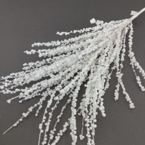 White Beaded Spray - My Christmas