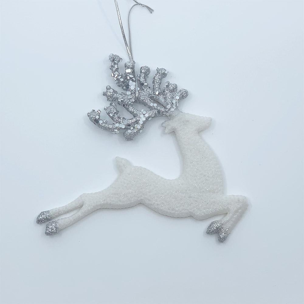 White Glitter Deer - My Christmas