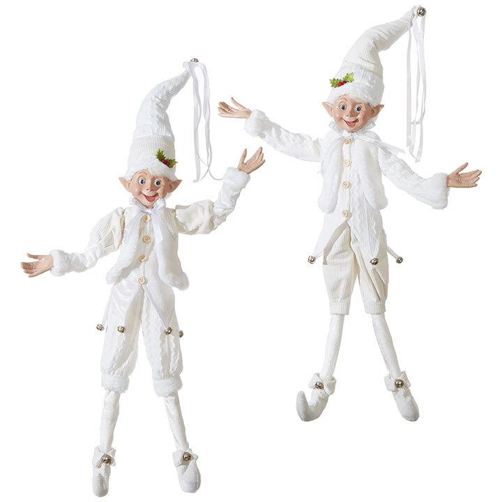 White Large Posable Elf. - My Christmas