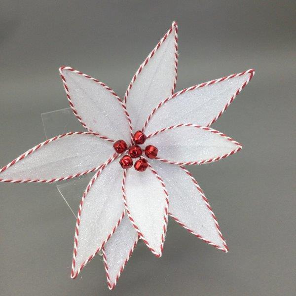 White Red Trim Flower - My Christmas