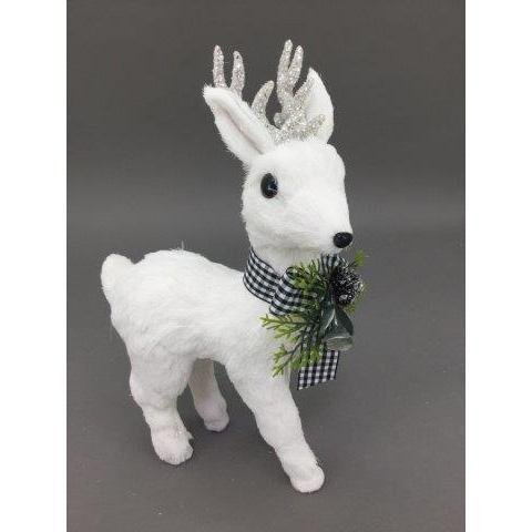 White Standing Deer, 31cm - My Christmas