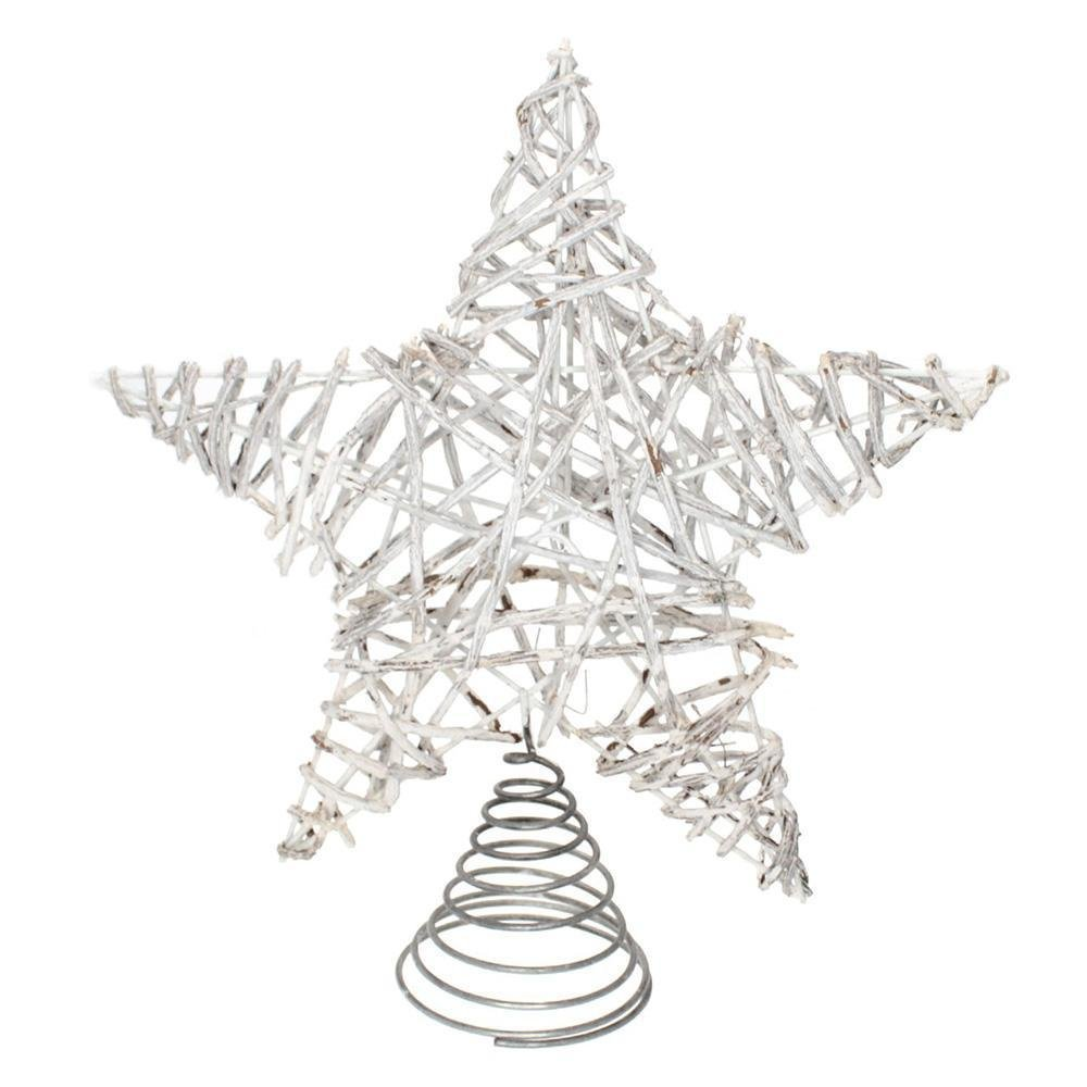 Whitewash Star Tree Topper - My Christmas