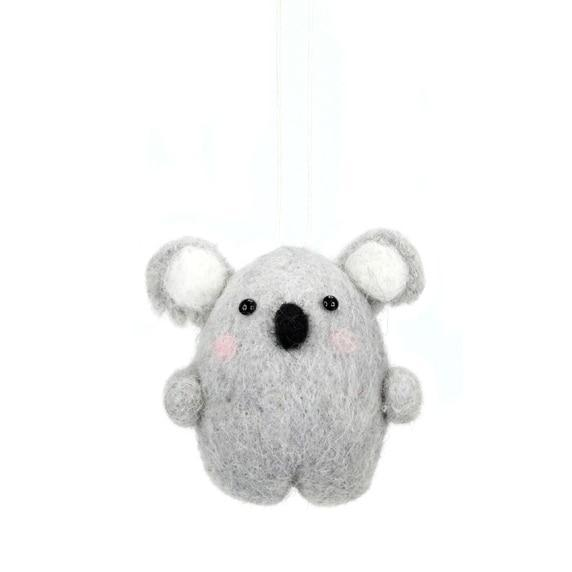 Wool Hanging Koala - My Christmas