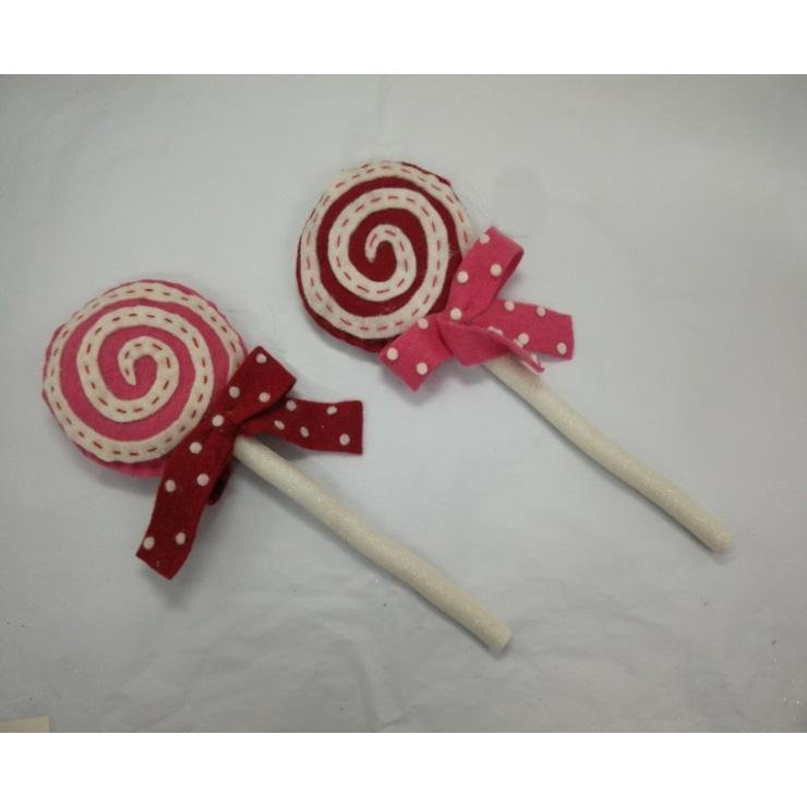 Wool Lollipop With Bow Ornament - My Christmas