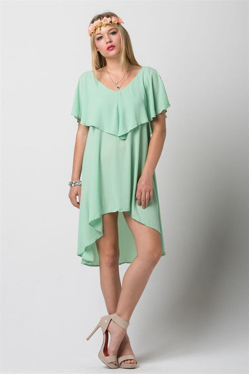 Green High Low Dress