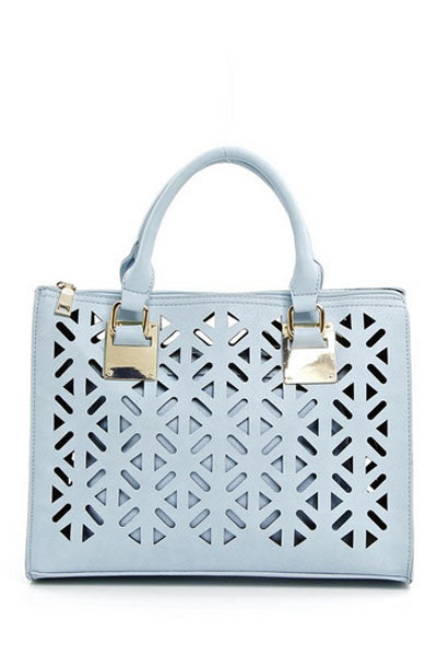Light Blue and Gold Purse