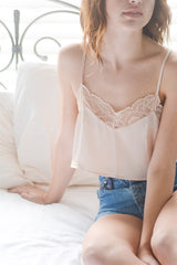 Champagne Lace Crop Top