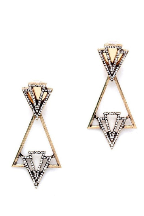 Gold Torrey Drop Earrings