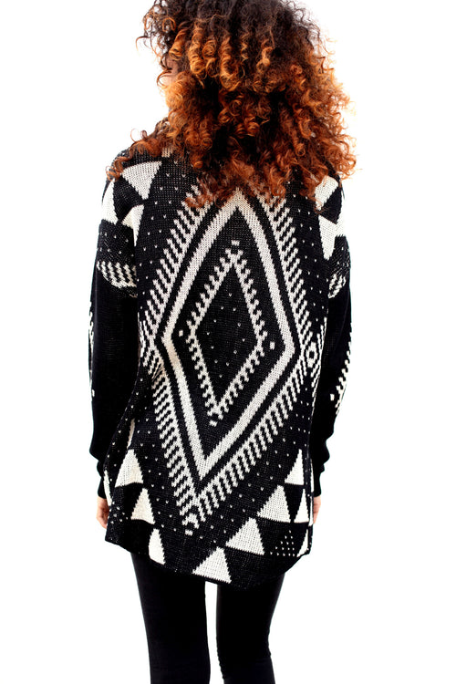 Aztec Draped Cardigan