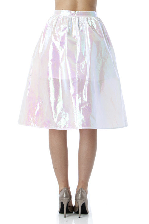 White Hologram Skirt