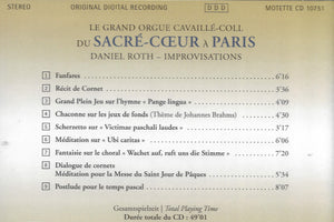 Le Grand-Orgue Cavaillé-Coll du Sacre Coeur, Paris
