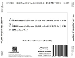 15015 Louis Vierne: 24 Pieces En Style Libre Op. 31 (2 CDs)
