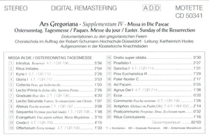 50341 Ars Gregoriana - Supplementum IV - Missa in Die Pascae