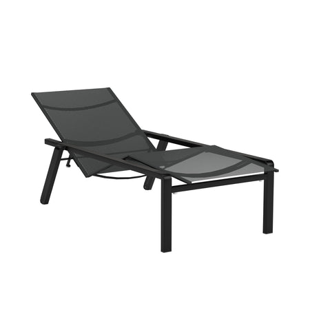 Alura Lounger - Black Batyline Mesh and Anthracite Aluminum Frame