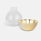 Pomme Vase/ Candle holder Brass