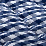 BJX Luxury Top Mattress King Blue Check
