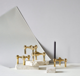 Stoff Nagel Candle Holder - Brass
