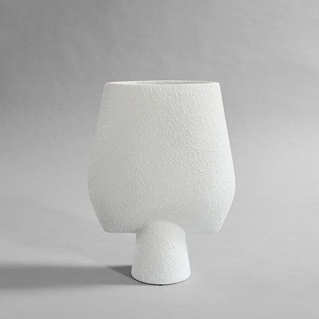 Sphere Vase Square in Bubble White