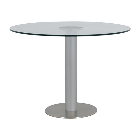 Zero Table Round 120cm - Glass Top and Steel Base