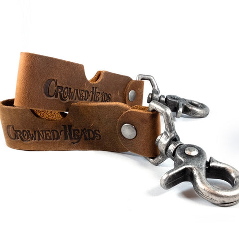 Crowned Heads Leather Keychain-Cigar Stand