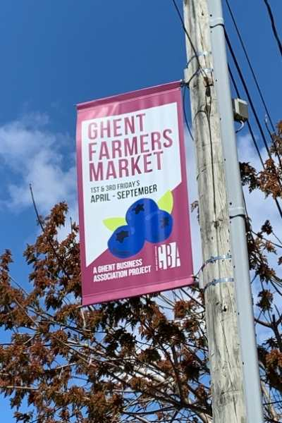 A Little Love Note for the Ghent Farmers Market