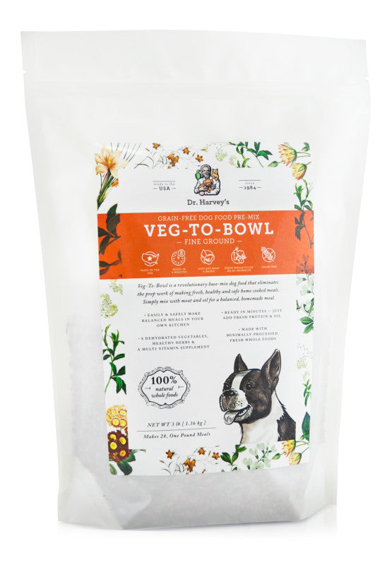 Dr. Harvey's Grain-Free Dog Food Pre-Mix - Veg-To-Bowl (Fine Ground)