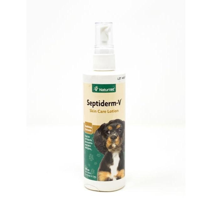 NaturVet Septiderm-V® Skin Care Lotion for Dogs & Cats