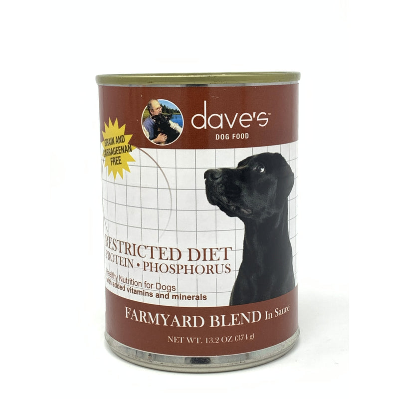 Dave's Pet Food Restricted Bland Diet Canned Dog Food Restricted Diet Protein Phosphorus – Farmyard Blend