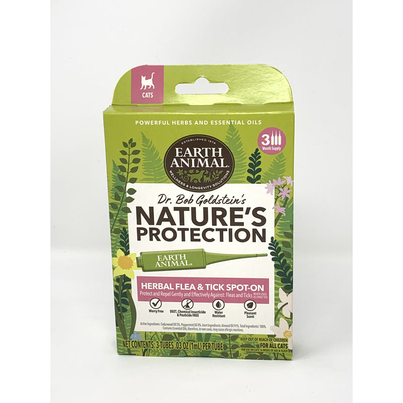 Earth Animal Nature's Protection Flea & Tick Herbal Spot-On For Cats