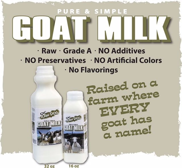 OC Raw Dog Pure & Simple Goat Milk