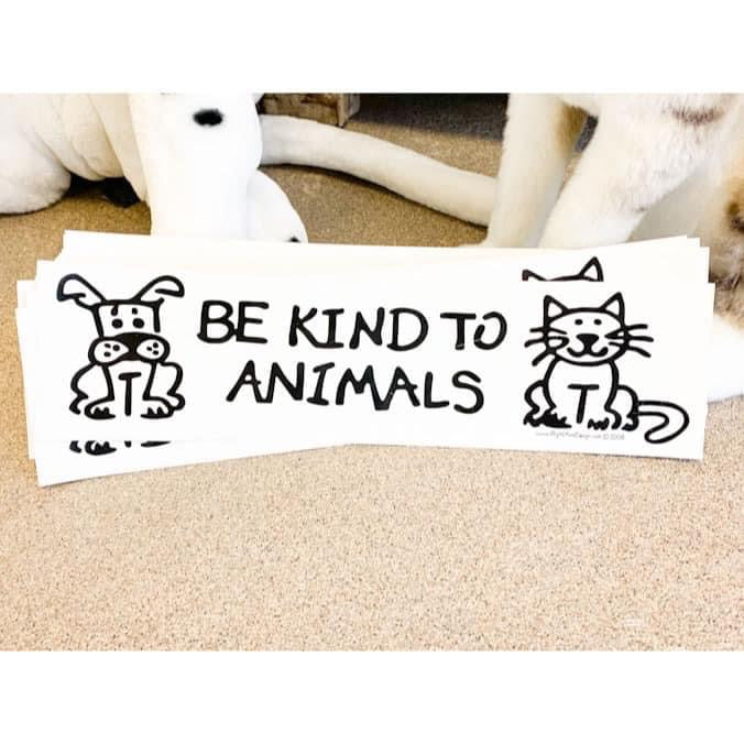 Be Kind to Animals Decals