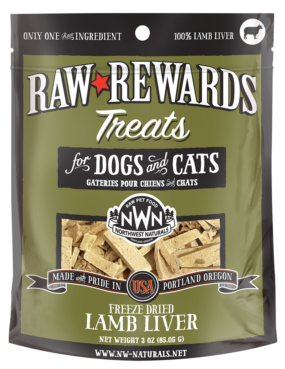 Northwest Naturals Raw Rewards Freeze Dried Treats lamb liver