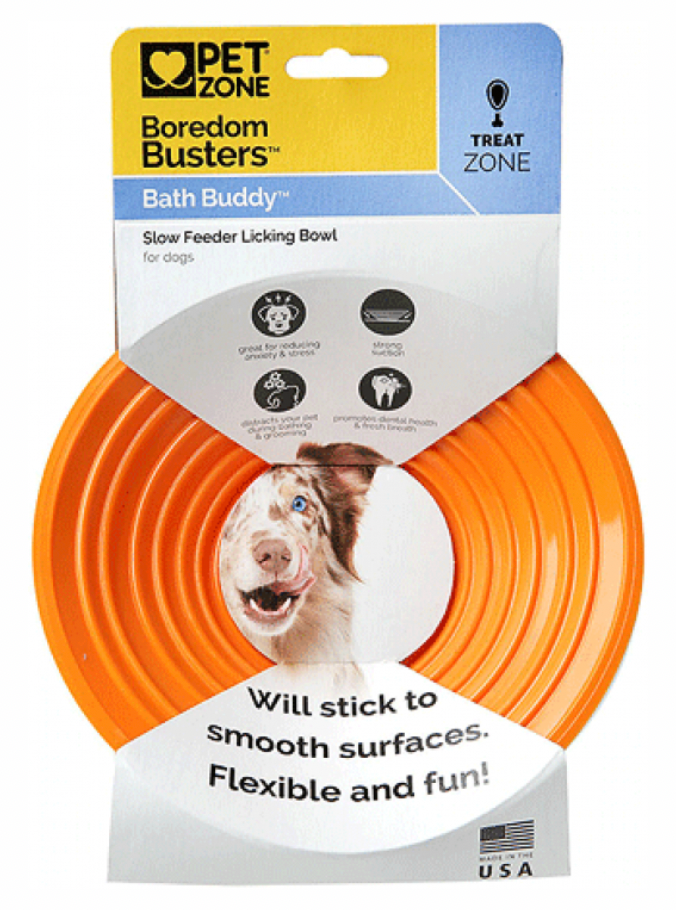Pet Zone Boredom Busters Bath Buddy Licking Mat for Dogs and Cats