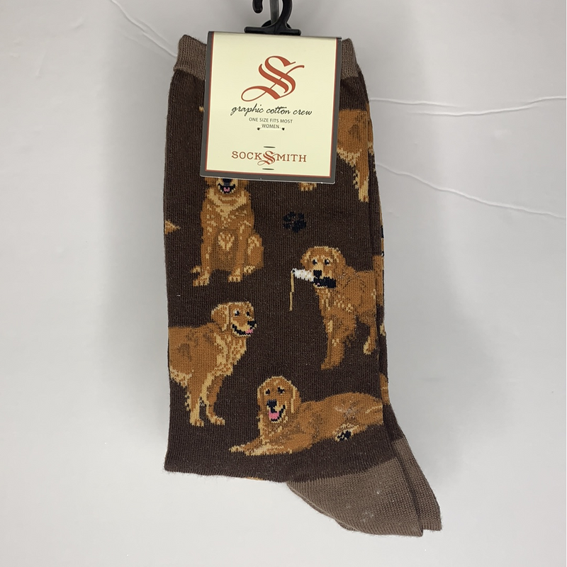 Women's Golden Retriever Socks - Brown