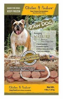 OC Raw Dog Chicken & Produce Sliders Raw Frozen Dog Food (4lb)