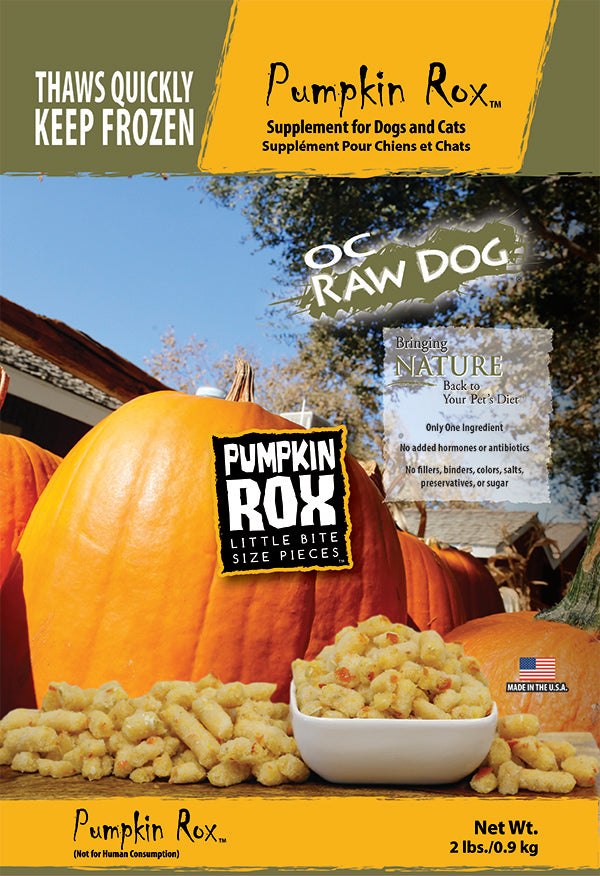 OC Raw Dog Pumpkin Rox Supplements for Dogs & Cat (2lb)