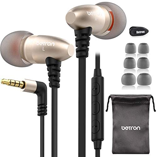 Betron W58 Noise Isolating in-ear Headphones Earphones with Microphone and Remote Control