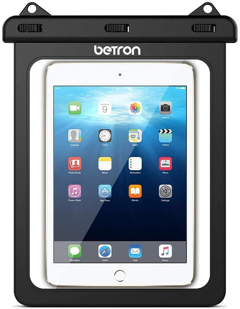 Betron Waterproof Carry Case Sleeve Cover for Apple iPad Samsung Tablets up to 10 Inches