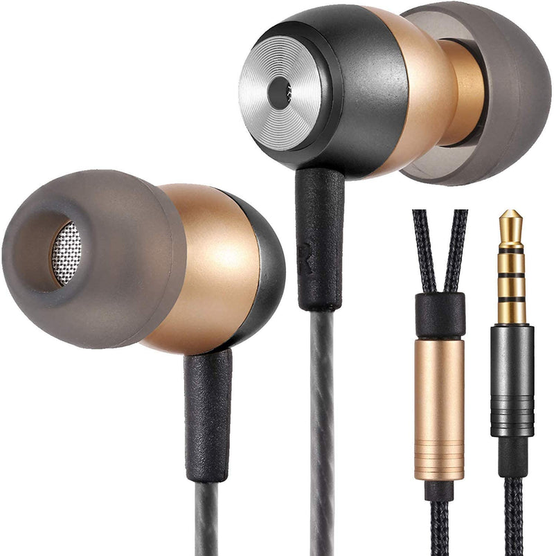 Betron GLD60 Noise Isolating In-Ear Headphones Earphones Vivid Bass Sound Gold Plated Connector