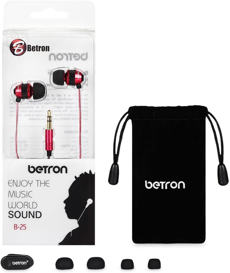Betron B25 Noise Isolating Earphones