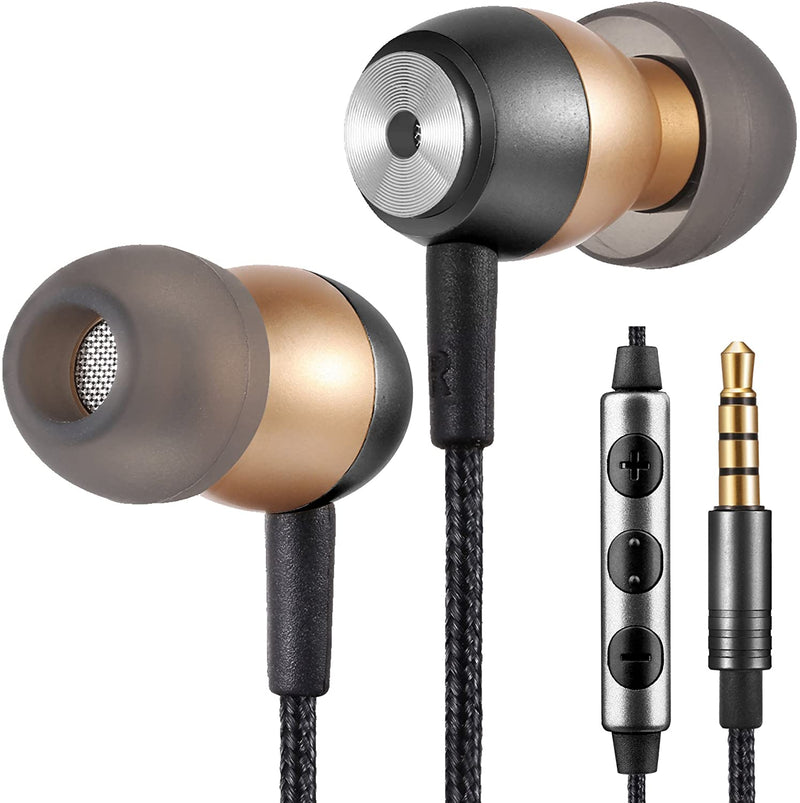 Betron GLD60 Noise Isolating in Ear Earphones Headphones for Samsung with Volume Control Microphone