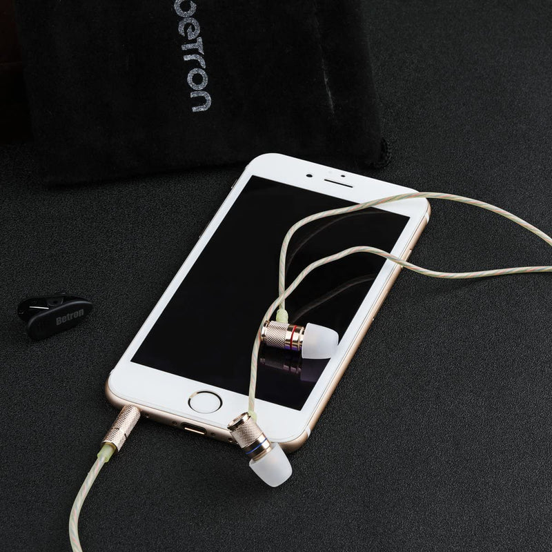 Betron DNZ500 Earphone Premium Bass Driven Sound Noise Isolating Microphone Volume Control iPhone