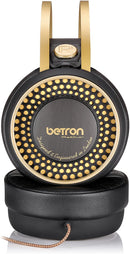 Betron Retro Over Ear Headphones Noise Isolating Bass Driven Sound Self Adjusting Headband
