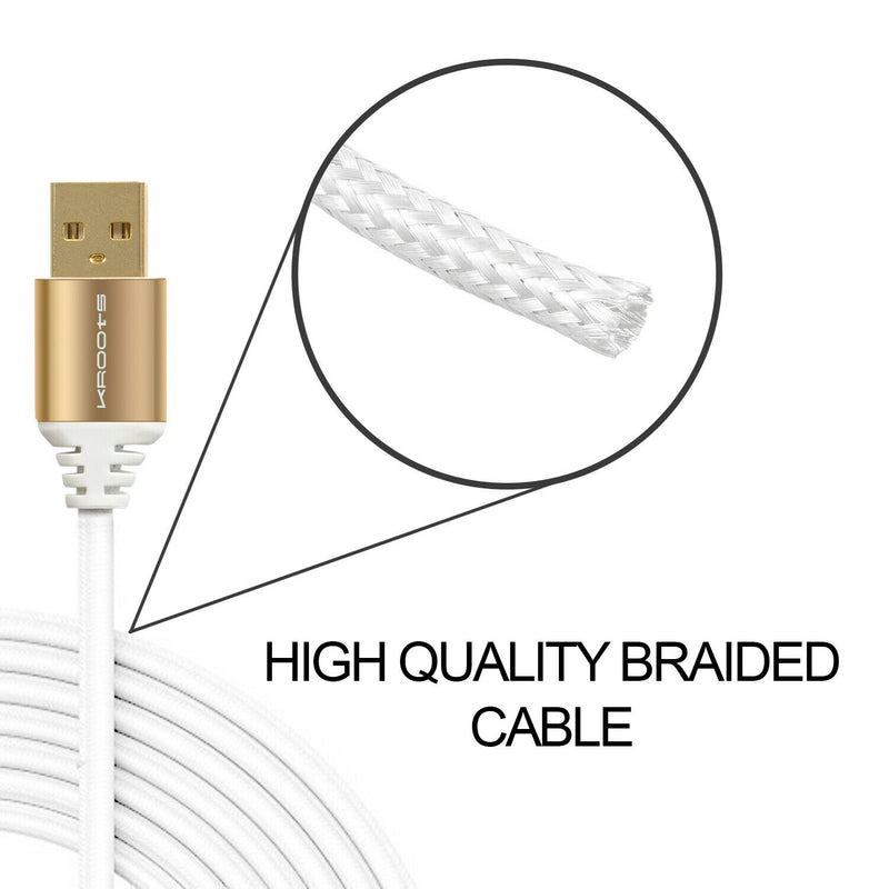 Kroots Heavy Duty Lightning 1m Super Charging Cable for Apple iPhone, iPad, iPod