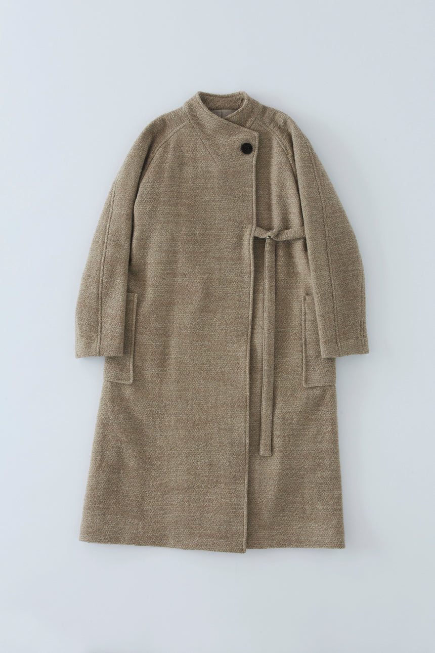 NO.14 Linen wool slub ロングコート
