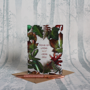 Autumnal Unbe-Leaf-Able Day Card