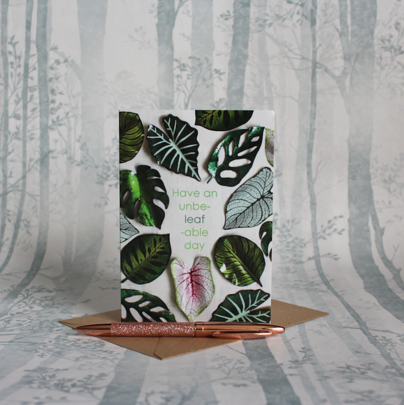 Houseplant Unbe-Leaf-Able Day Card
